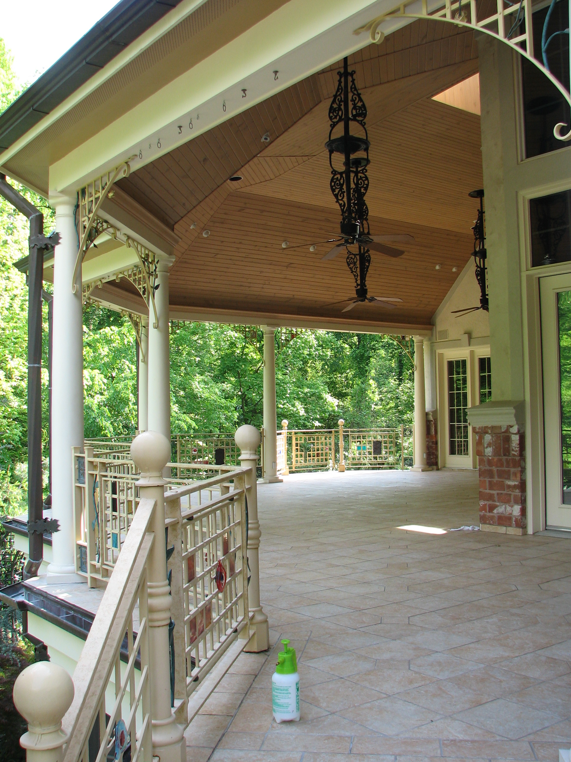 Vaulted Covered Porch Ladue Mo Terbrock Remodeling